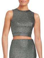 Saks Fifth Avenue RED Crewneck Sleeveless Cropped Top