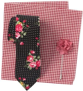 Original Penguin Patterson Floral Tie, Pocket Square, & Lapel Pin Set