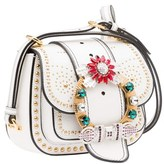 Miu Miu Women's White Leather Shoulder Bag.