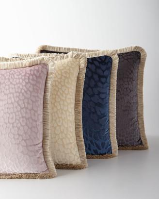 "Roberto Cavalli Monogram Velvet Pillow, 24""Sq."