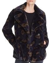 Zadig & Voltaire Miles Leo Faux-Fur Camouflage Coat