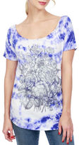Lucky Brand Floral Printed Cotton Tee