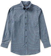 Roundtree & Yorke Casuals Long-Sleeve Flannel Gingham Sportshirt