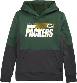 Nike Kids' Dri-FIT Therma NFL Logo Green Bay Packers Hoodie
