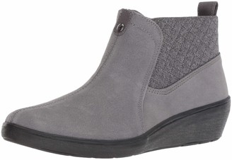 Grasshoppers Women's Porter Boot Suede Mule Gray 8 M US