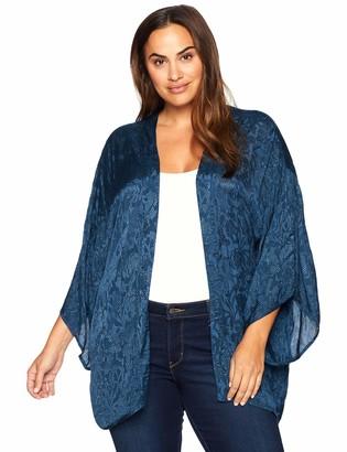 Junarose Women's Plus Size Saliraz Three Quarter Sleeve Kimono