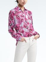 Banana Republic Easy Care Floral Dillon-Fit Shirt