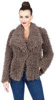 Betsey Johnson Cuddle Up Faux Fur Jacket