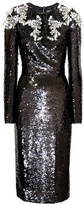 Dolce & Gabbana Crystal-embellished sequin dress