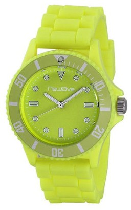 Newave Unisex Quartz Watch Analogue Display and Silicone Strap NWH214FJ-S