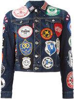 DSQUARED2 patch appliqué denim jacket