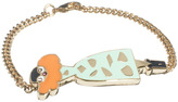 Libertine By Giles Deacon 18ct Gold Plated Bracelet With Enamel Lady