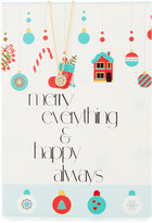 Lydell NYC Circle Necklace with Merry Everything Card