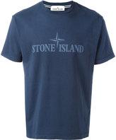 Stone Island logo print T-shirt - men - Cotton - S