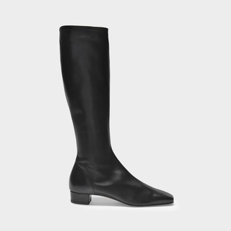 BY FAR Boots Edie In Black Smooth Leather