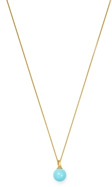 Marco Bicego 18K Yellow Gold Africa Turquoise Pendant Necklace, 16.75