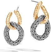John Hardy Classic Chain Hook 18K & Silver Drop Earrings