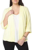 Evans Crepe Panel Jacket (Plus Size)