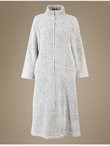 M&S Collection Long Sleeve Zip-up Dressing Gown