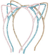Copper Key 3-Pack Glitter Cat Ears Headband Set