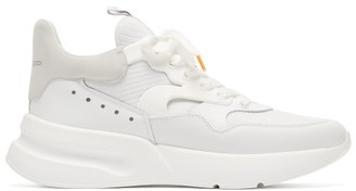 Alexander McQueen Raised-sole Neoprene And Leather Trainers - Mens - White