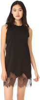 McQ by Alexander McQueen Alexander McQueen Lace Trim Tank Dress