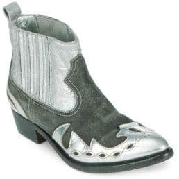 Golden Goose Point Toe Leather Booties