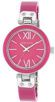 Anne Klein Women's Plastic Semi-Bangle Bracelet Watch AK/1197MAMA