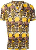 Etro geometric print T-shirt - men - Linen/Flax - M
