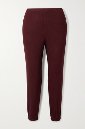 Leset Lori Brushed Stretch-jersey Track Pants - Claret