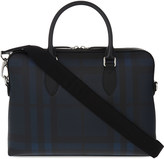 Burberry The Barrow coated cotton briefcase