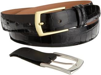 Trafalgar mens Genuine Alligator and Crocodile Leather apparel belts