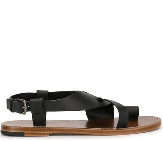 Bottega Veneta Toe Strap Buckle Detail Sandal