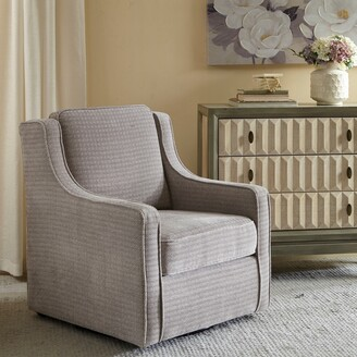 Madison Home USA Lois Grey Swivel Chair