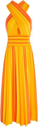 Carolina Herrera Stretch-Knit Halterneck Midi Dress