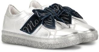 MonnaLisa Slip-On Bow Sneakers