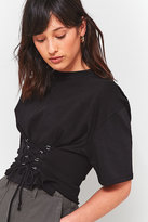 Light Before Dark Corset Cropped T-shirt