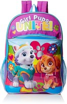 Nickelodeon Little Girls Paw Patrol Rainbow 16 Inch Backpack