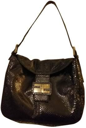 Fendi Baguette Black Python Handbags