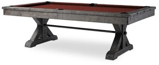 "Otis Slate Pool Table With Professional Installation Included Plank & Hide Felt Color: Purple, Size: 84"" W x 51"" D"