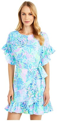 Lilly Pulitzer Darlah Stretch Dress (Multi Shell Of A Party) Women's Dress