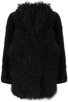 Sylvie Schimmel shearling trim coat