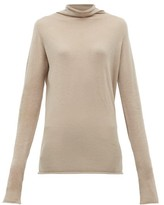 Raey Sheer Raw-edge Funnel-neck Cashmere Sweater - Womens - Grey