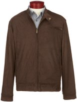 Roundtree & Yorke Perforated Faux-Suede Jacket