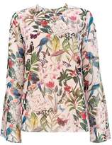 Wallis Stone Bird Print Top