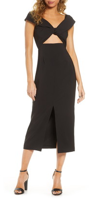 Finders Keepers Mae Slit Midi Dress