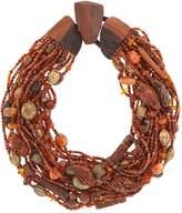 eskandar Beaded Necklace, Brown