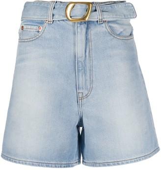 Magda Butrym Belted Denim Shorts