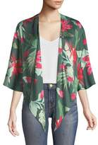 Lovers And Friends Dino Floral-Print Open-Front Kimono Top
