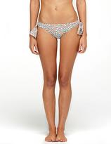 Diane von Furstenberg Loves Roxy Paneled Side Bikini Bottom In Clover Neon Peach